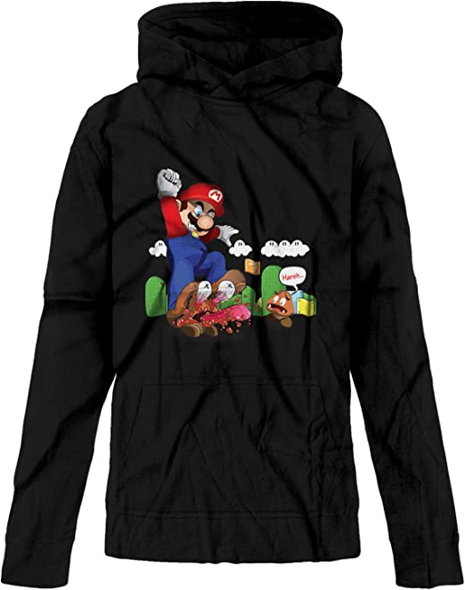 Rebrseecca Mo Kids//Youth Hoodies Super Ma-Rio 3D Print Unisex Plus Velvet Pullover Hooded Sweatshirts for Boys//Girls//Teen