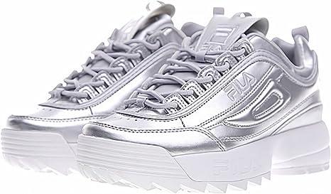 Fila Hombres & Mujeres Zapatillas de running zapatillas de running transpirable y ligero deporte, plata, 5: Amazon.es: Deportes y aire libre