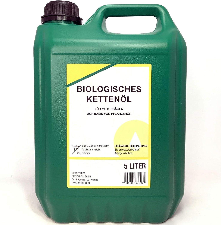 BIOSTAR - Aceite para Cadenas de motosierras (5 L): Amazon.es: Jardín