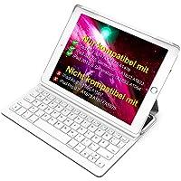 Inateck Ultra Slim Tastatur Hülle kampatibel mit iPad 2018(6. Generation), iPad 2017(5.Generation) und iPad Air 1, Keyboard Case mit Mulit-Angle- Ständer-Funktion,QWERTZ Layout, BK2003 LG