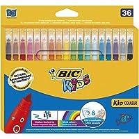 BIC Kids Kid Couleur Feutres de Coloriage - Etui Carton de 36