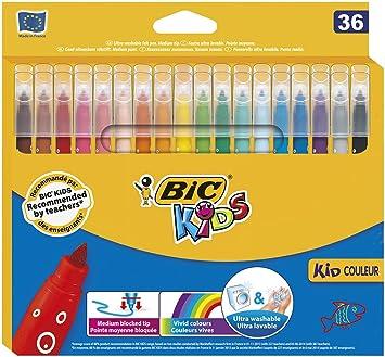 Feutre A Coloriage En Anglais.Bic Kids Kid Couleur Pack De 36 Feutres De Coloriage Motif Bulles