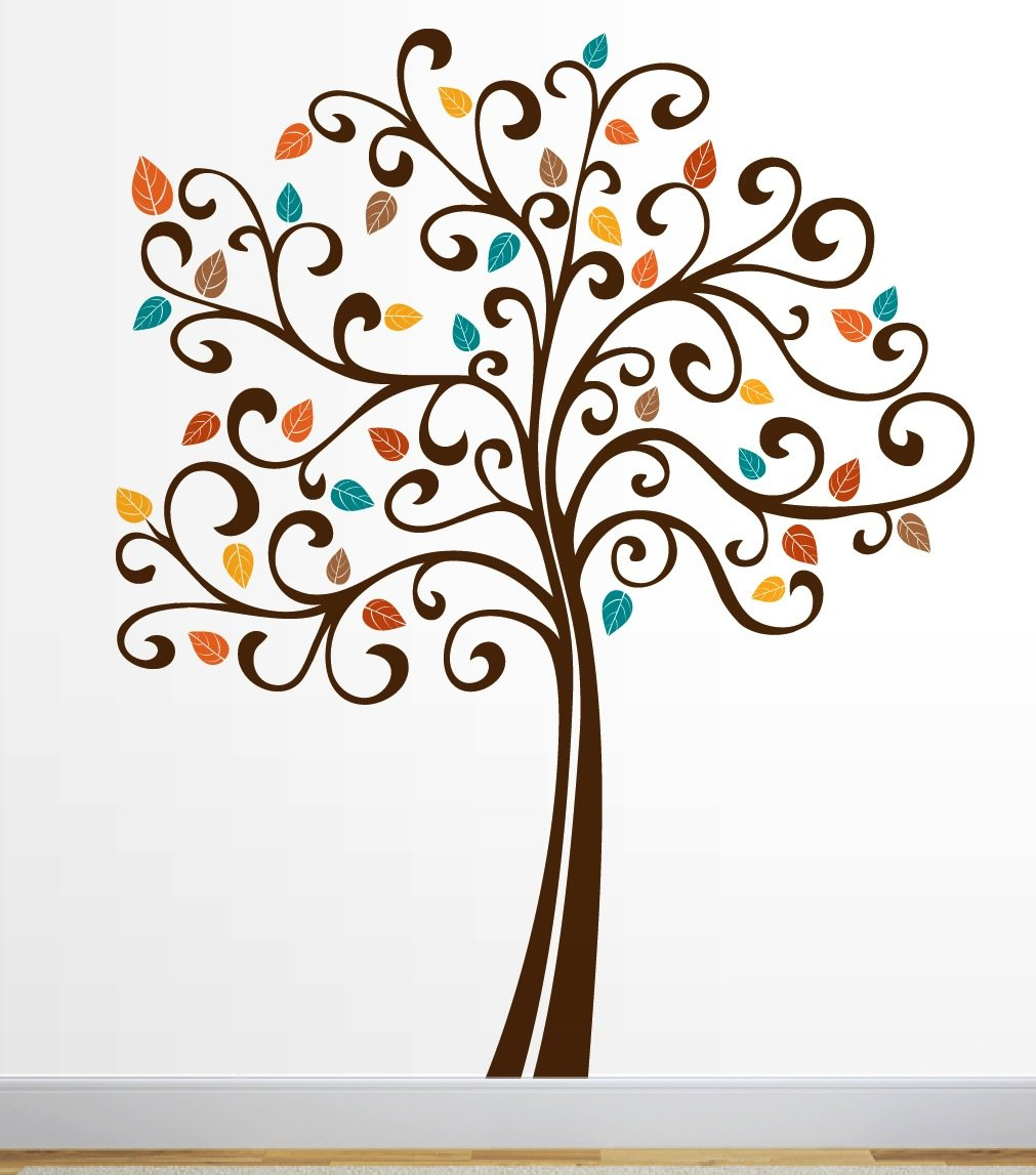 Unique Curvy Tree Vinyl Wall Decal