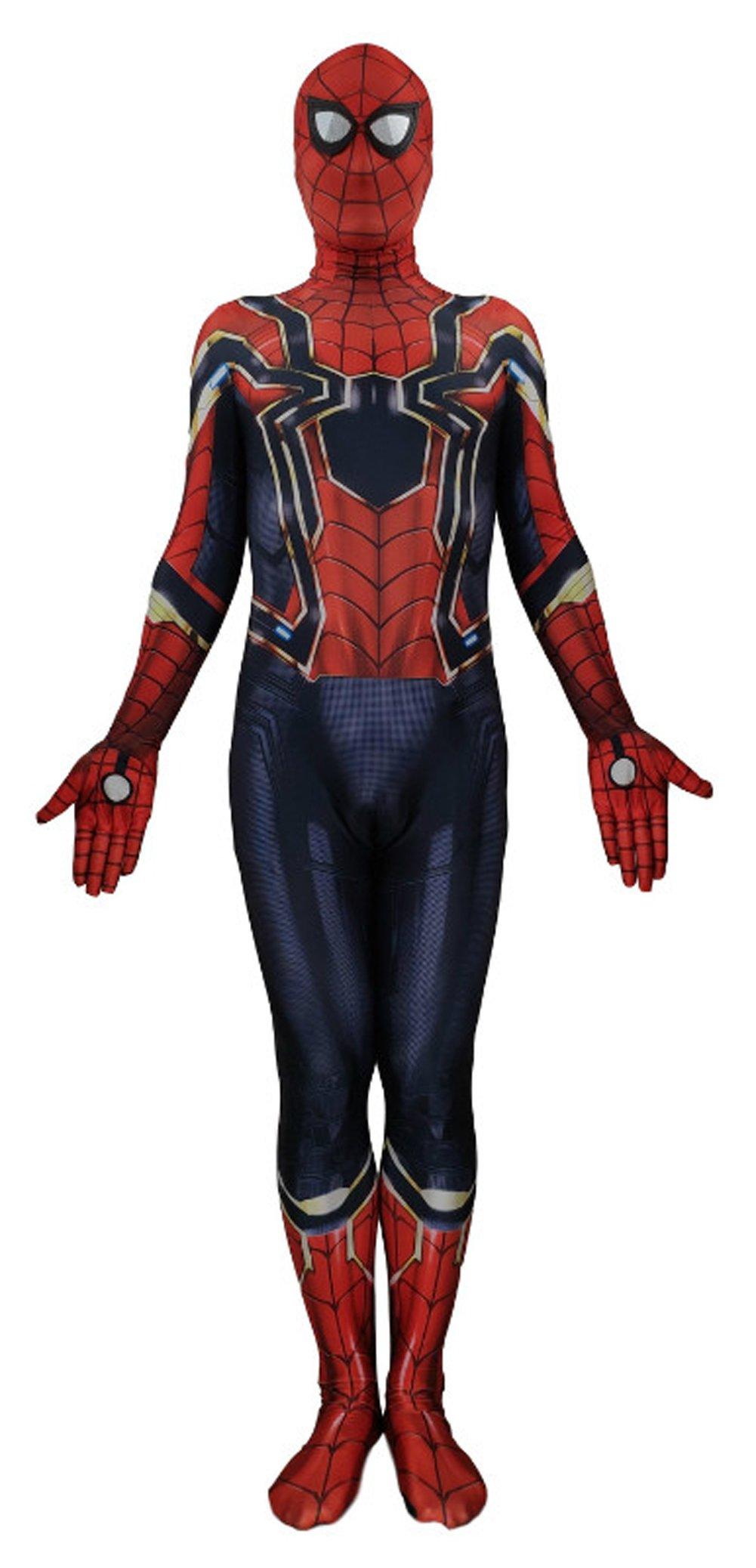 - 71X0HETaadL - Jolly Costumes Lycra Spandex Zentai Unisex Halloween Cosplay Costumes 3D Style Audlt/Kids
