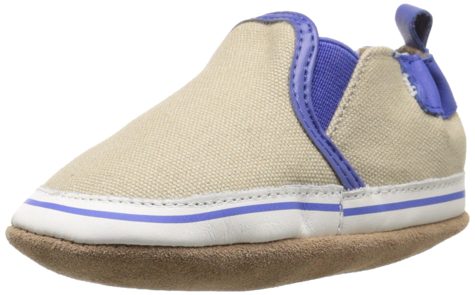 Robeez Liam Soft Sole Crib Shoe (Infant), Taupe, 12-18 Months M US