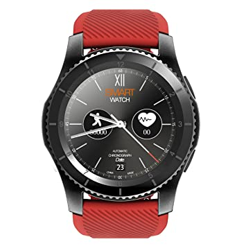 Padgene Montre Connectée Bluetooth 4.0 Smartwatch Sport G-Sensor GPS Bracelet Connecté Cardiofréquencemètre Podomètre Supporte
