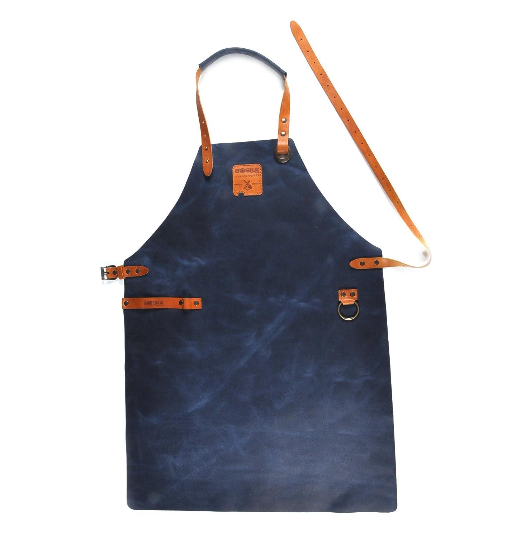 BOSKA Lederschürze Mister Smith in blau, Leder, 20 x 20 x 10 cm