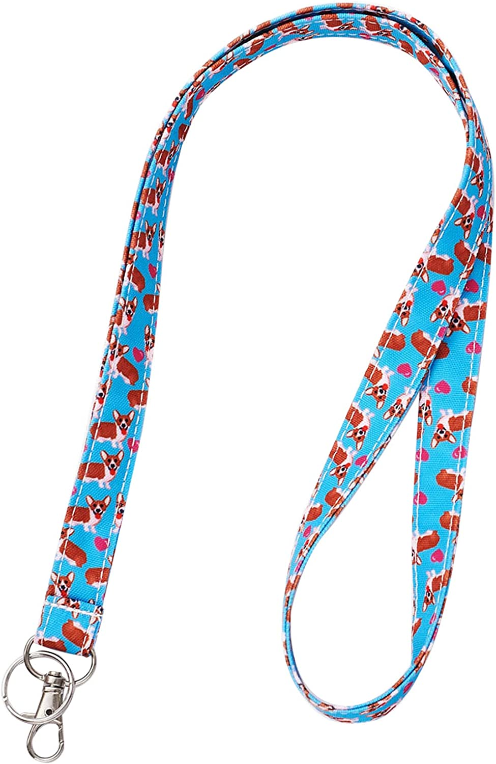 Dog Keychain Gift for Dog Lover Lanyard with Dogs Fabric Lanyard Dog ID Lanyard Dog Lanyard Gift for Coworker Gift under 10
