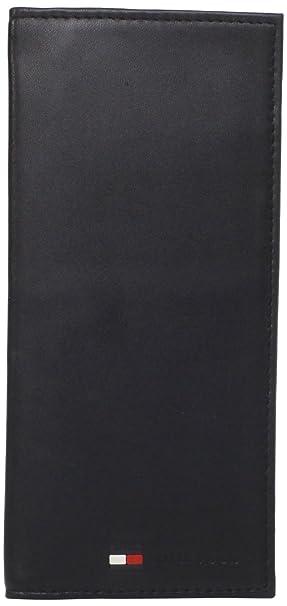 Tommy Hilfiger - Cartera para Hombre, diseño de Piel de Oveja - Negro - Talla