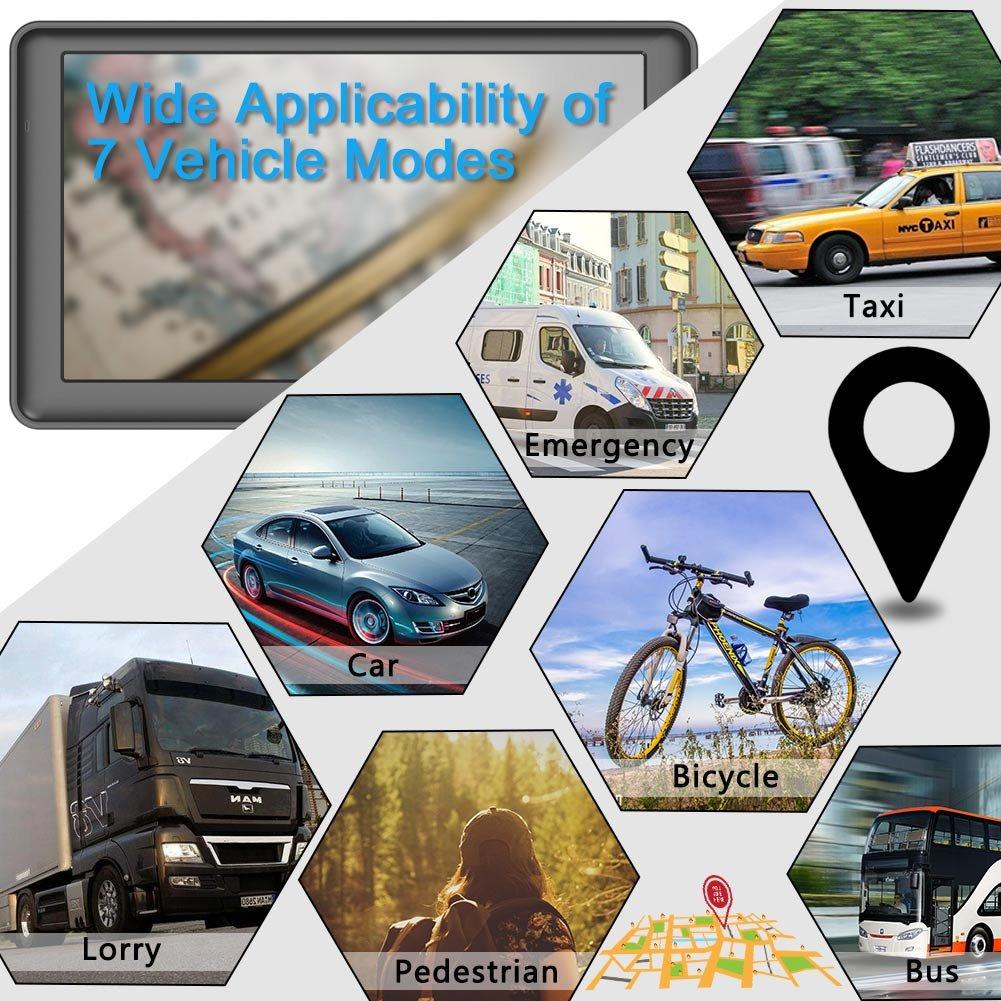 Mises /à Jour Gratuites /à Vie GPS Voiture Auto 7 Pouces 16GB 256MB /Écran Tactile Capacitif Dispositif de Navigation par Satellite Pr/écharg/é UK//EU 2019 Cartes Les Plus R/écentes