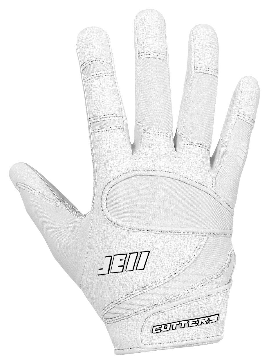 カッターJulian Edelmanフットボールグローブ、Extremeグリップ&受信機子供&大人サイズ手袋、柔軟、快適、耐久性、通気性、1ペア B07BM8C5D6 ホワイト ADULT: XX-Large ADULT: XX-Large|ホワイト