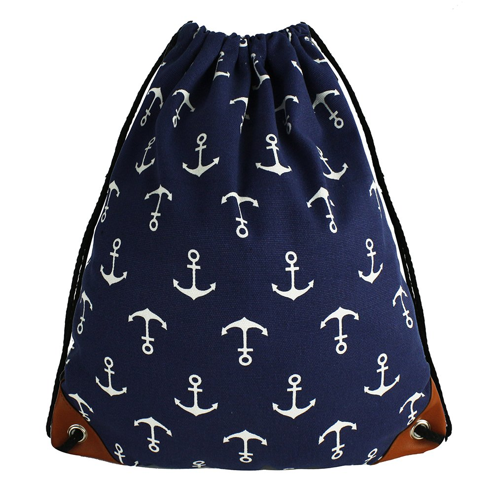 66ba57af4d64 Amazon.com  Anchor Drawstring Bag Tote Bags 15.4