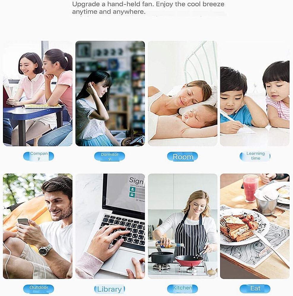 NCBH Mini USB Fan Desktop Silent,Phone Bracket//Portable Mirror//Storage Box//Emergency Mobile Power Rechargeable Fan 3 Speeds