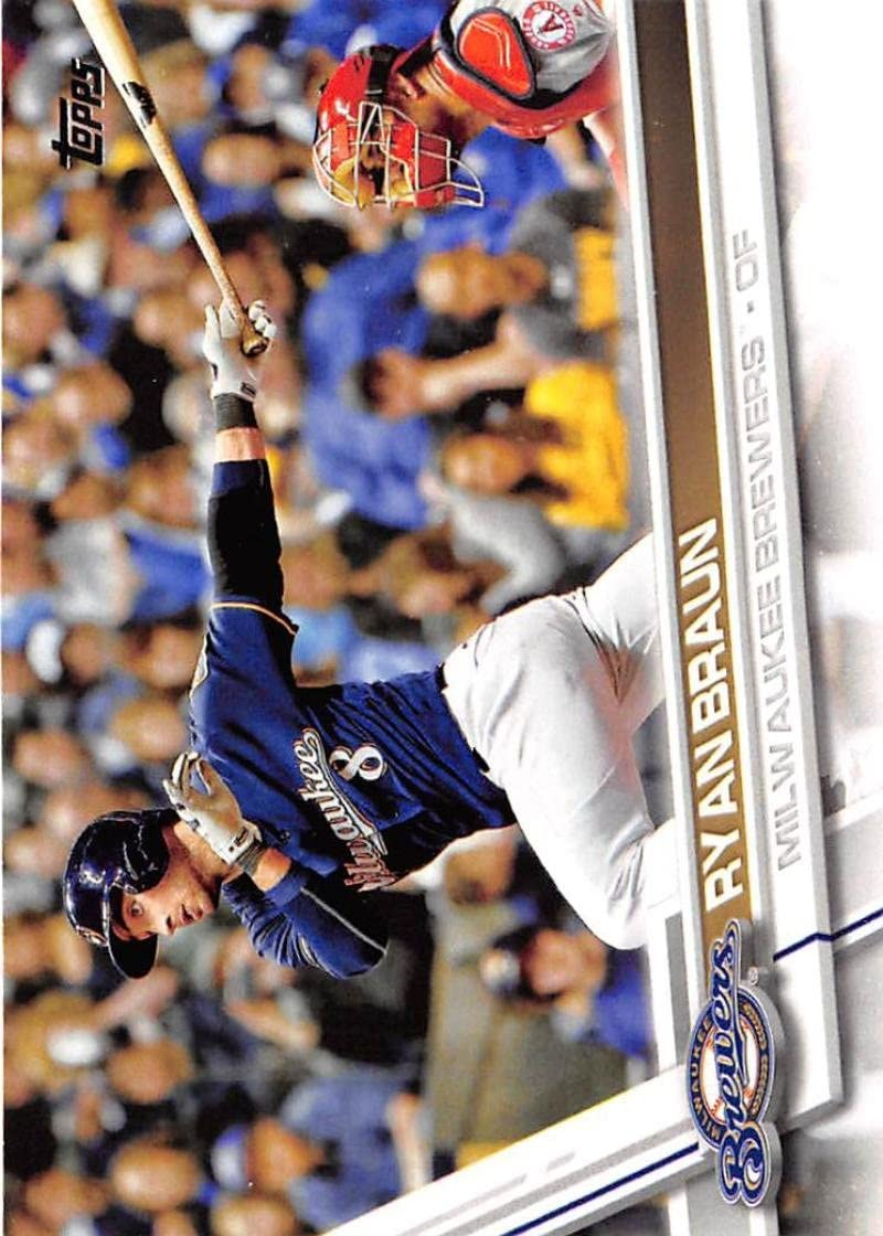 Amazon.com: Baseball MLB 2017 Topps #220 Ryan Braun NM-MT ...