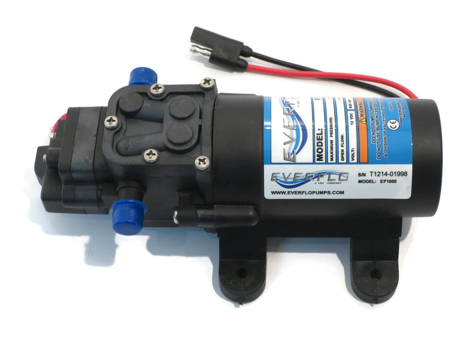 New 1.0 GPM 40 psi 12 Volt Diaphragm ON Demand WATER PUMP w/ Wire Power Harness by The ROP Shop by The ROP Shop (Image #5)