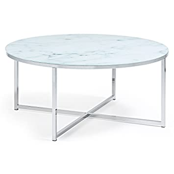 Kave Home Table Basse Divid 80cm, Verre Effet marbre  Amazon.fr ... a20b61a346bf