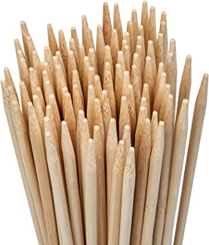 110-Pack 36 Inch Marshmallow Smores Roasting Bamboo Sticks 5mm Thick Wooden
