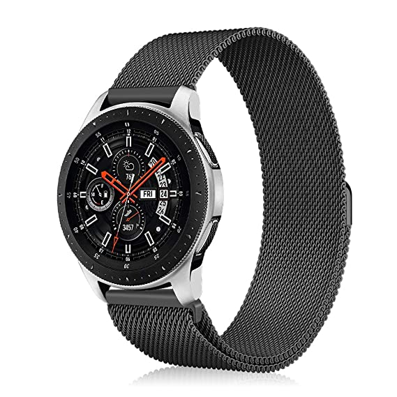 Fintie Galaxy Watch 46mm / Gear S3 Frontier Classic Band [Small], 22mm Milanese Loop Stainless Steel Replacement Smartwatch Bracelet Wrist Strap with ...