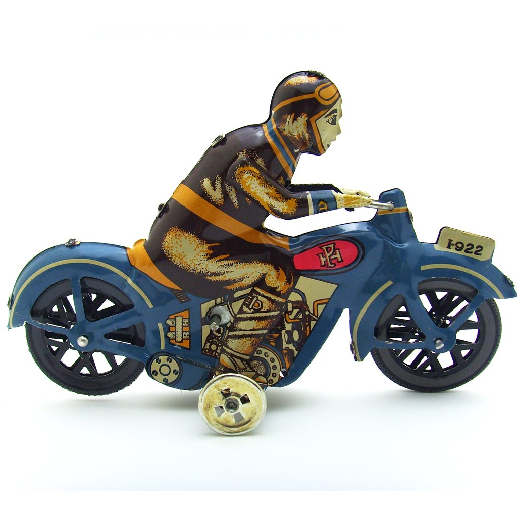 US 1 Pc Vintage Wind Up Motorcycle Rider Clockwork Tin Toy Collectible Gift New