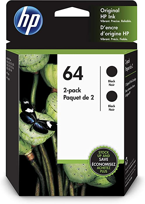HP 64 | 2 Ink Cartridge | Black | 3YP22AN