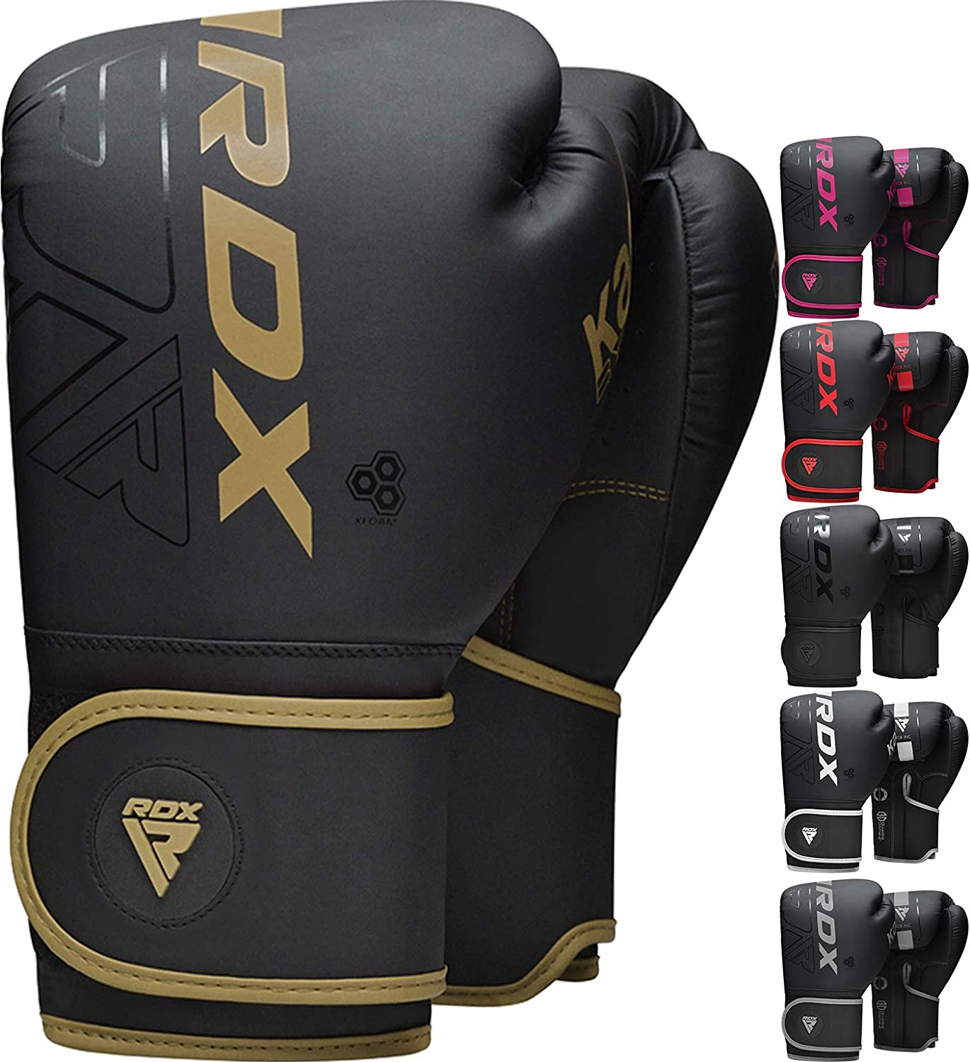 RDX Boxing Gloves Sparring and Muay Thai Maya Hide Leather, Kara Patent Pending Training Mitt for Kickboxing, Punching Bag, Focus Pads, MMA, Thai Pad, Double End Ball Punching Fight Gloves