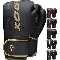 RDX Guantes de boxeo Sparring y Muay Thai Maya Hide Leather KARA Patente Pendiente Manopla de entrenamiento para…