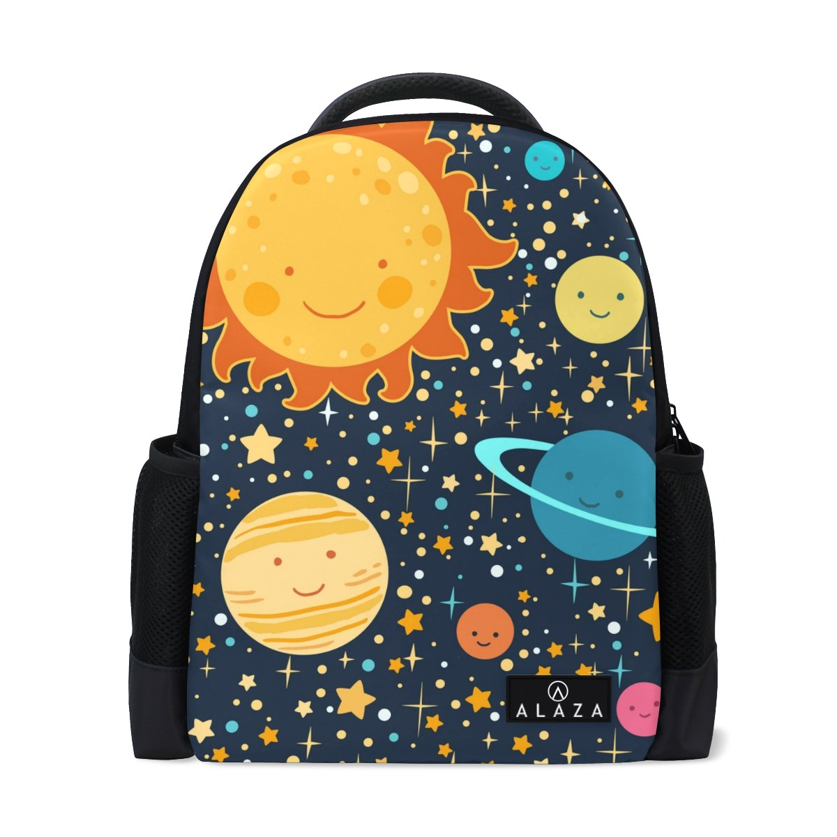 Drawing Solar System Laptop Backpack High School Bookbag Casual Travel Daypack