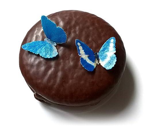 Amazon.com: 24 mini muy pequeño azul Comestible oblea papel ...