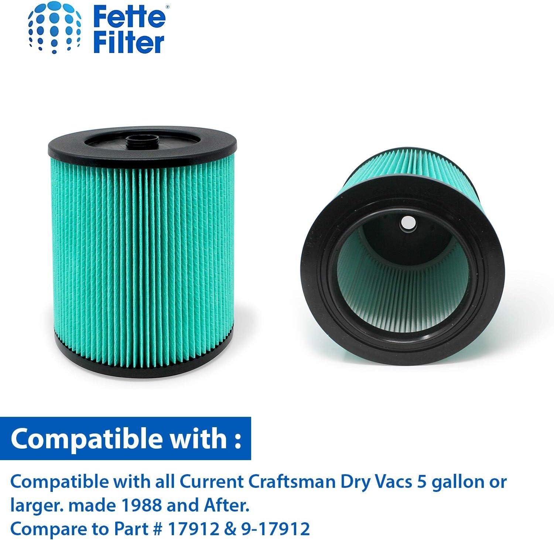 Premium Craftsman /& Ridgid Fine Particle Filter /& 17912 Part # 17816,17907