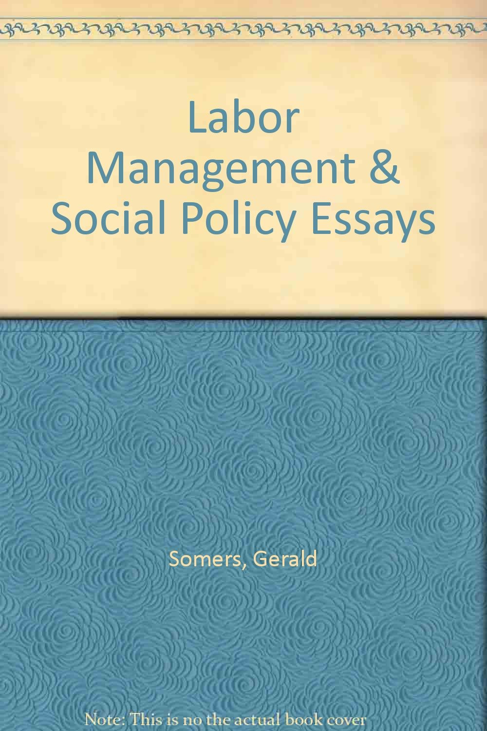 labor management and social policy essays in the john r labor management and social policy essays in the john r commons tradition gerald ed somers 9781135569389 com books