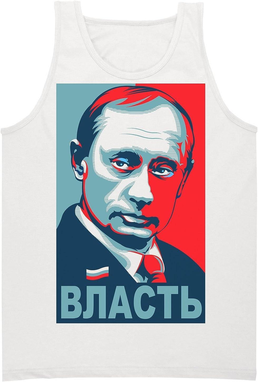Putin Poster VLAST Power Camiseta sin Mangas para Hombre ...