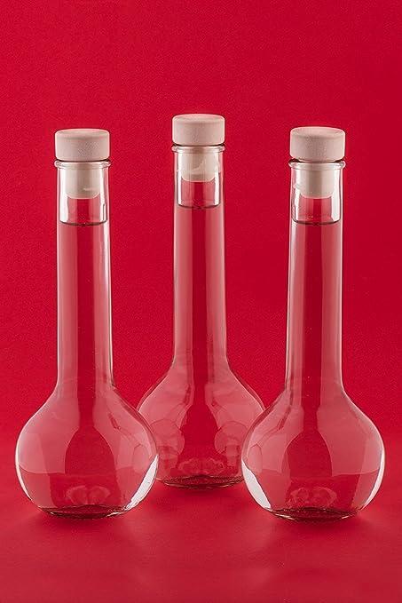 12 x 200 ml de TULHGK botellas de cristal cierre con corcho de Licor Aguardiente Vinagre