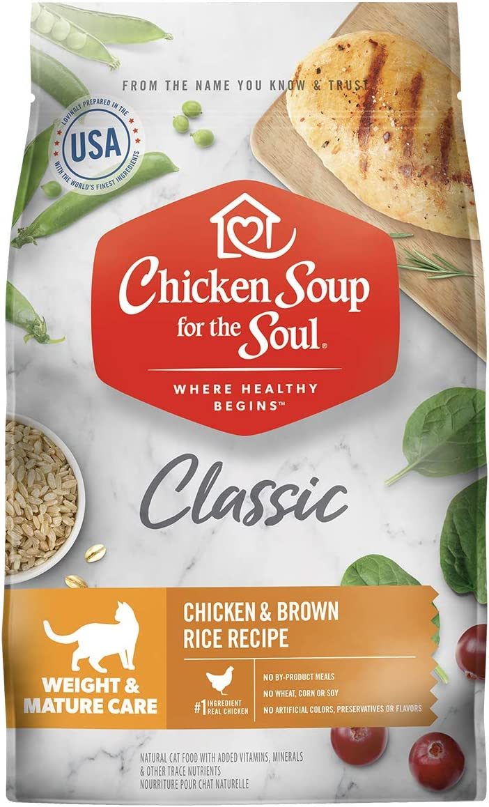 Chicken Soup for the Soul Weight & Mature Care Dry Cat Food - Chicken & Brown Rice Recipe