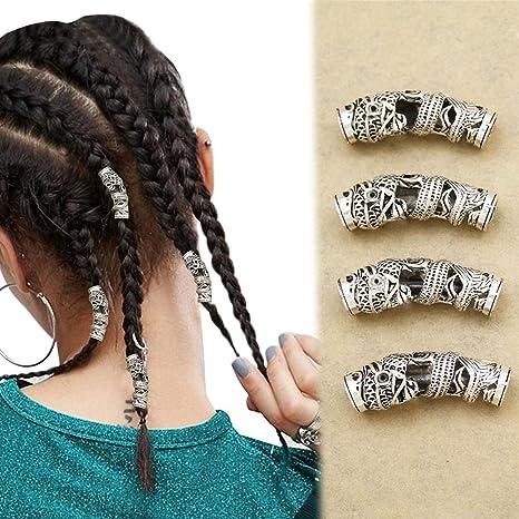 YNuth 2pcs Dreadlock Beads Clip del Diseño Garra de Águila Anillos de  Rastas Abalorios de Rastas 80e68ebb8436