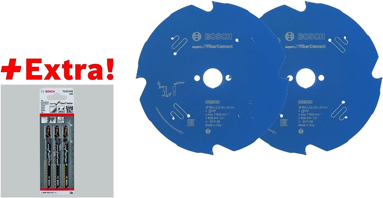 Circular Saw Blades + Carbide-Jigsaw Blade Bosch Saw Blade Set Fibre Cement New!