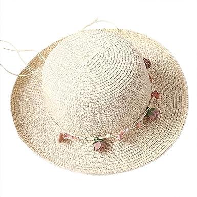 44da4849e9d24 Leisial Sombrero Gorro de Paja Playa Panama Deporte al Aire Libre Gorro del Sol  Sombrero para Mujer  Amazon.es  Ropa y accesorios
