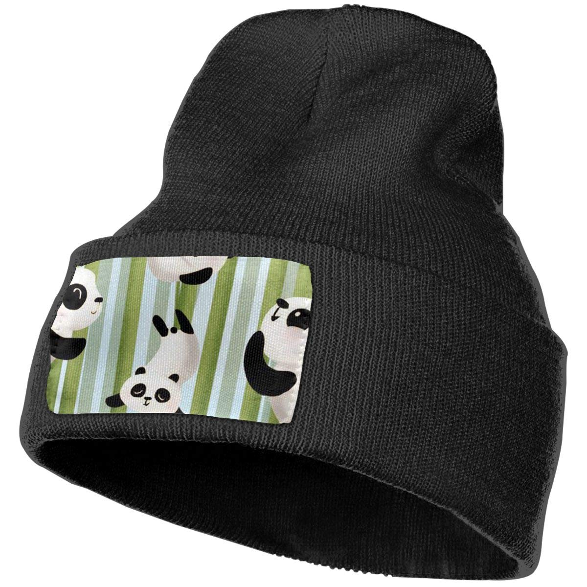 100/% Acrylic Acid Mas Beanie Hat Ruin Bamboo Panda Fashion Knitting Hat for Men Women