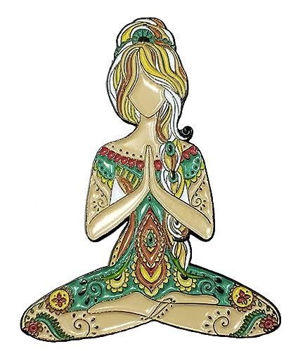 Yoga girl loto Namaste cerámica esmalte Pin de solapa ...