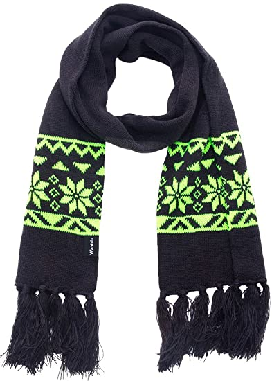 Winter Unisex Crochet Scarf Christmas Scarf Snowflake Patterned