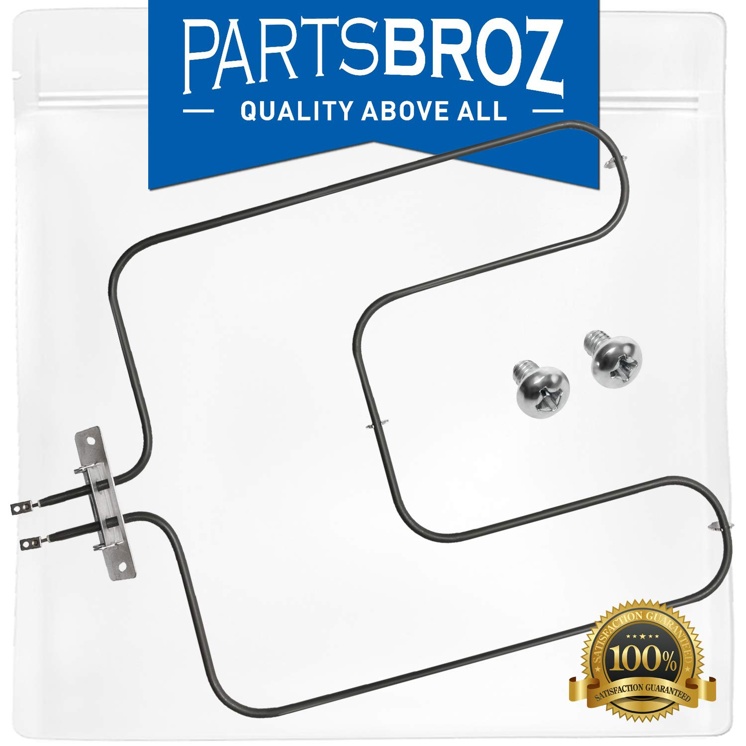 WB44X200 Bake Element for GE Ovens by PartsBroz - Replaces Part Numbers AP2031031, 3267, AH249424, EA249424, PS249424, TS44X200, WB44X0160, WB44X0200, WB44X160, WB44X200R, WB44X6200