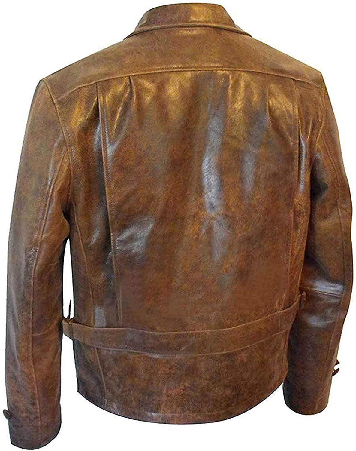 Mens James Bond 007 Skyfall Vintage Brown Article Leather Jacket 2XS to 3XL
