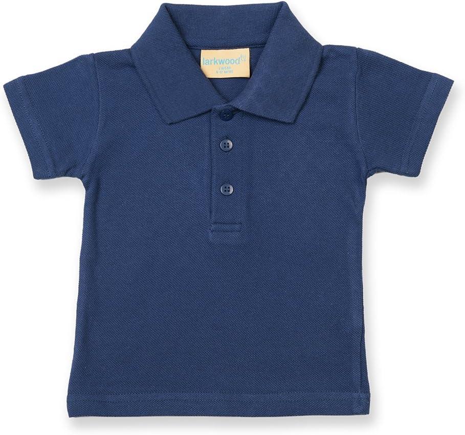 0-6 mesi Larkwood Azzurro Polo per Neonato 100/% Cotone