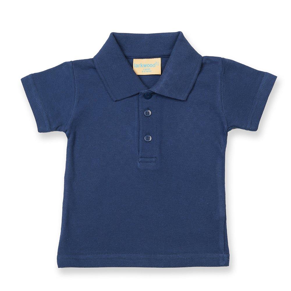 Larkwood - Polo per Neonato 100% Cotone (0-6 mesi) (Azzurro)