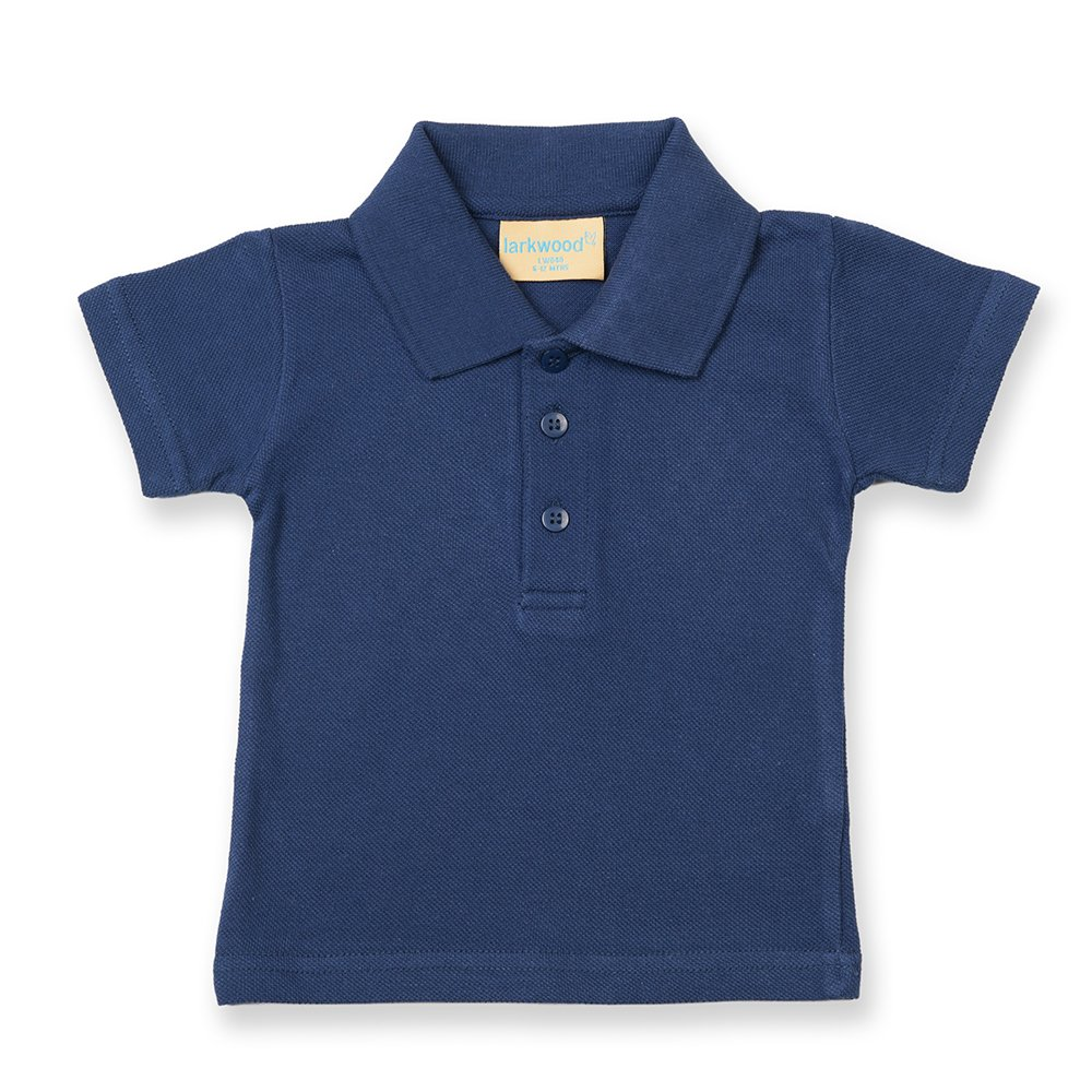 Larkwood Baby/Toddler Polo Shirt Navy 18-24 UTRW794_24