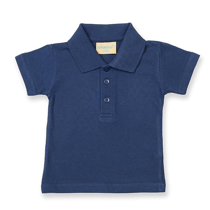 e3af9b3e9 Larkwood Baby/Toddler Polo Shirt, Navy, 12-18 Months: Amazon.co.uk: Clothing