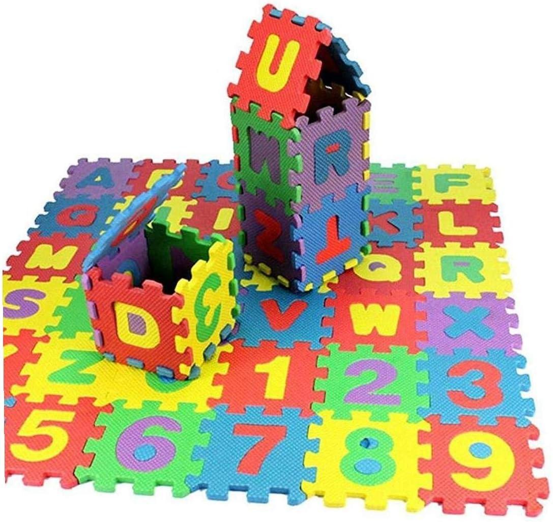 36pcs Bricolage Casse-t/ête Tapis De Jeu En Mousse Eva Baby Soft D/éveloppement Floor Pad Crawling Tapis Num/érique Et Lettre Tapis De Jeu Pour B/éb/és