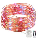 Amazon Price History for:GDEALER 8 Modes String Lights 33ft 100LED Copper Wire Fairy Starry String Lights Battery Powered with Remote Control for Outdoor, Indoor, Christmas Waterproof multi color(Battery NOT INCLUDED) (1)