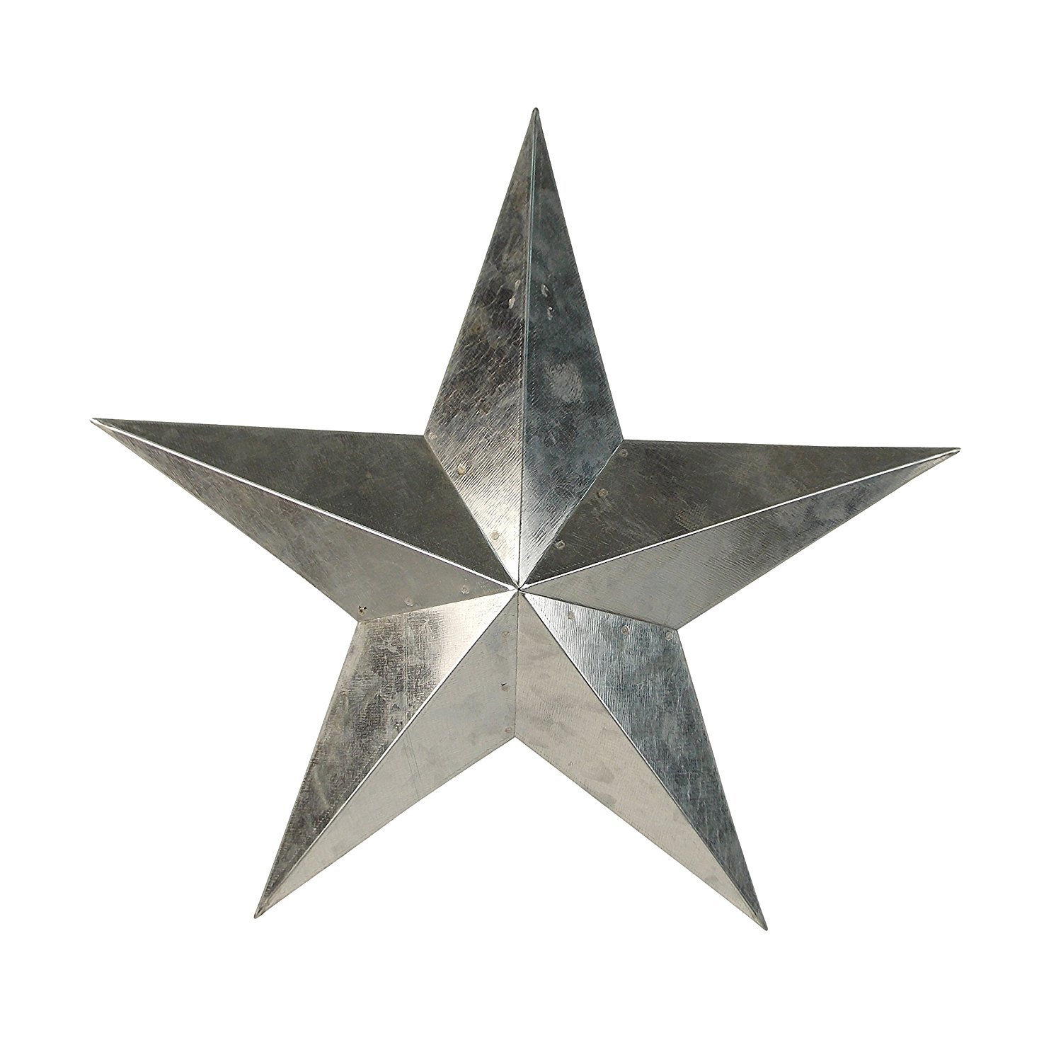 ACCENTHOME Metal Country Tin Galvanized Barn Star Country Primitive Star Wall D/écor 11 2