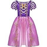 iiniim Vestido Niña Elegante Traje de Princesa Tutú Infantil Fairy Tales Vestido Largo Disfraces para Halloween Navidad Cosplay Costume para Niñas Chicas