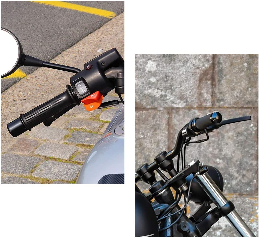 uxcell Universal Motorcycle Handlebar Lever Anti-theft Lock with 2 Keys Gold Tone